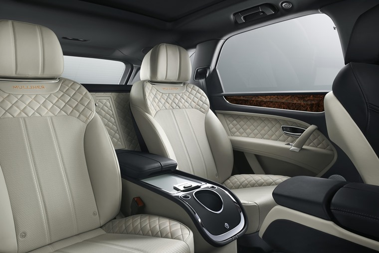 With seven hides to choose from and a drinks cabinet with crystal flutes, the back of the Bentayga offers truly opulent travel for those lucky few.