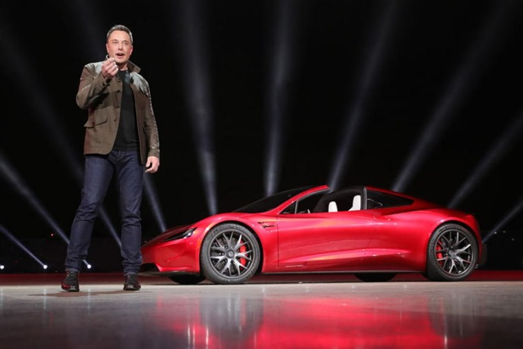 Elon Musk unveiling new Roadster