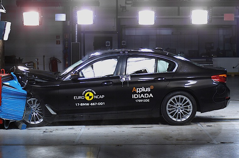 BMW 5 Series got top marks in Euro NCAP's latest tests.