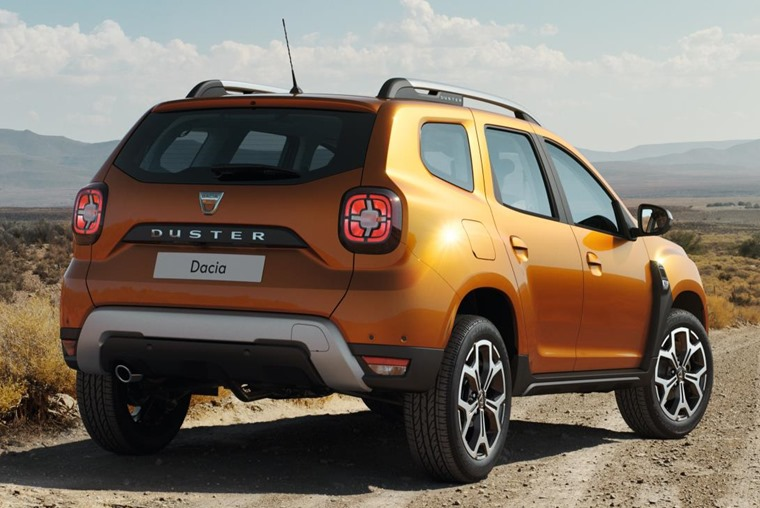 The biggest external change for the new Dacia Duster is a more contemporary set of rear light stacks.