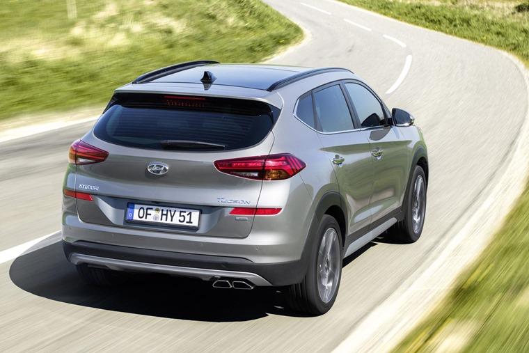 New Hyundai Tucson top rear