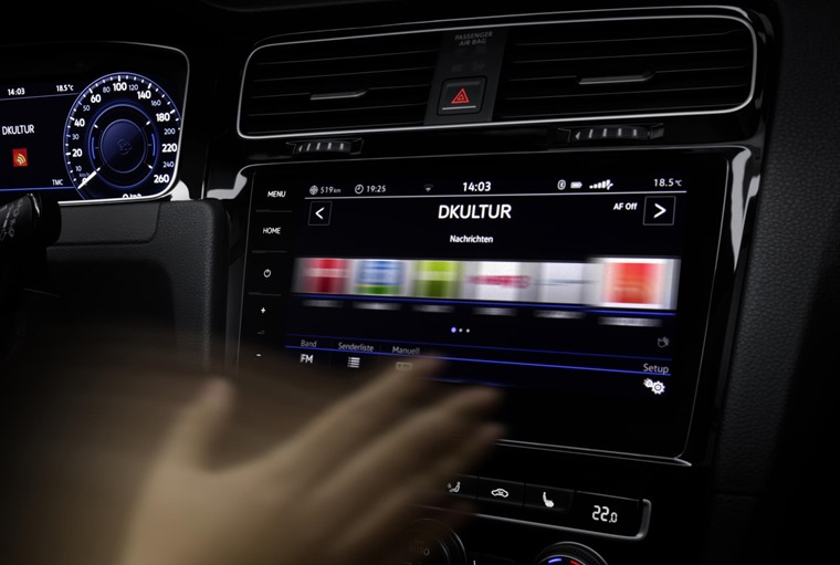 The new infotainment system gets clever swipe-sensing tech, similar to an iPad.