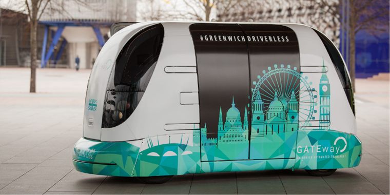 GATEway project was the UK's first public driverless vehicle trial