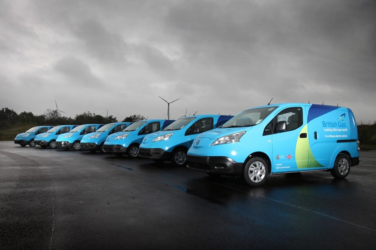 Nissan e-NV200 fleet for British Gas