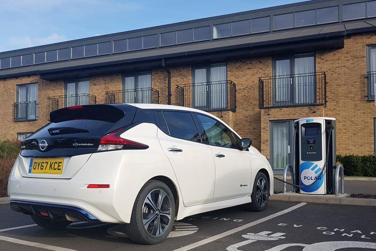 Nissan Leaf charging 2