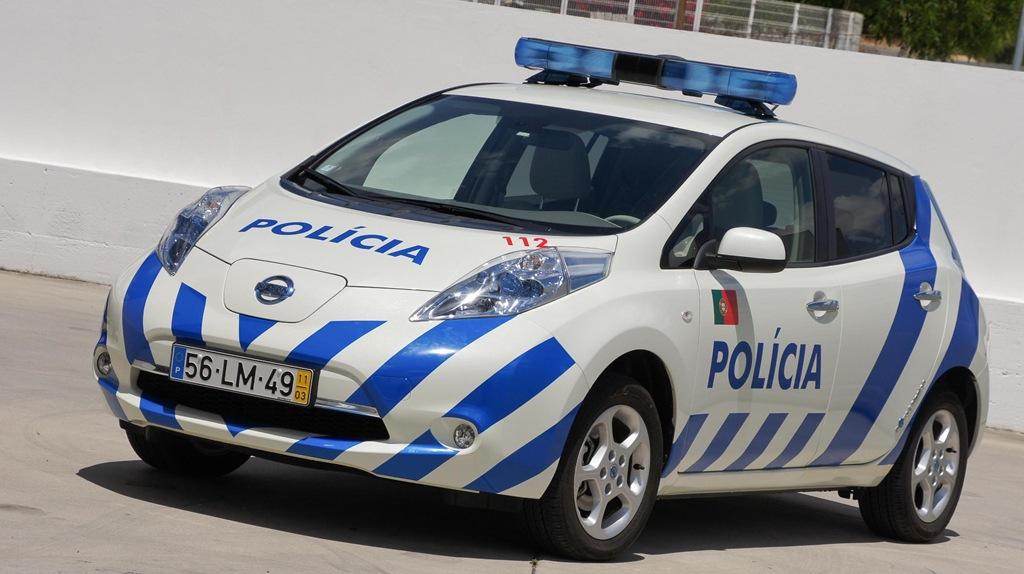 Nissan Leaf Police Car In Portugal