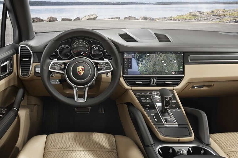 The interior is largely carried over from the latest Panamera and gets Volkswagen Group's latest range-topping 12.3in infotainment system.