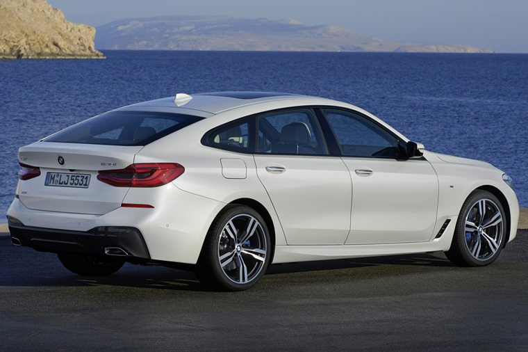 The practical 6 Series GT features a huge hatchback, similar in design to Audi's A7 Sportback.
