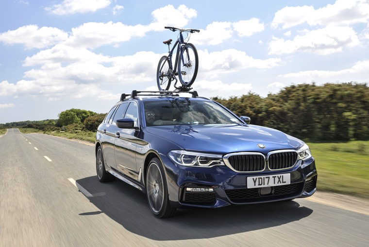 BMW 5 Series Touring on the road