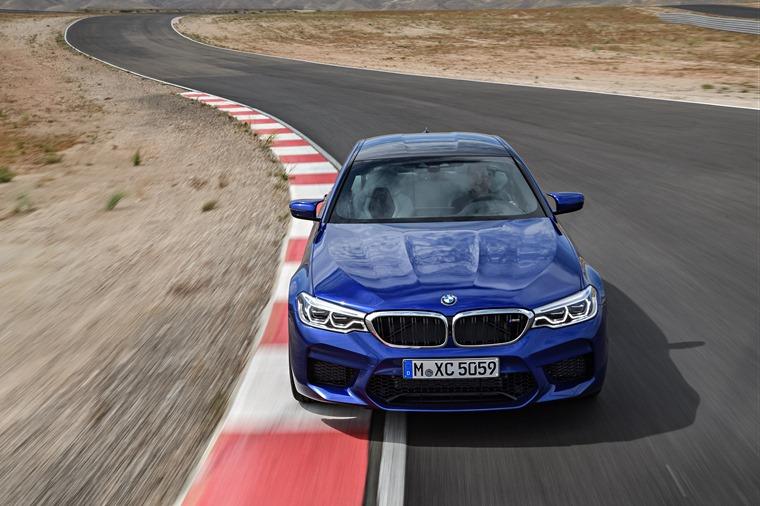 BMW M5 track cornering