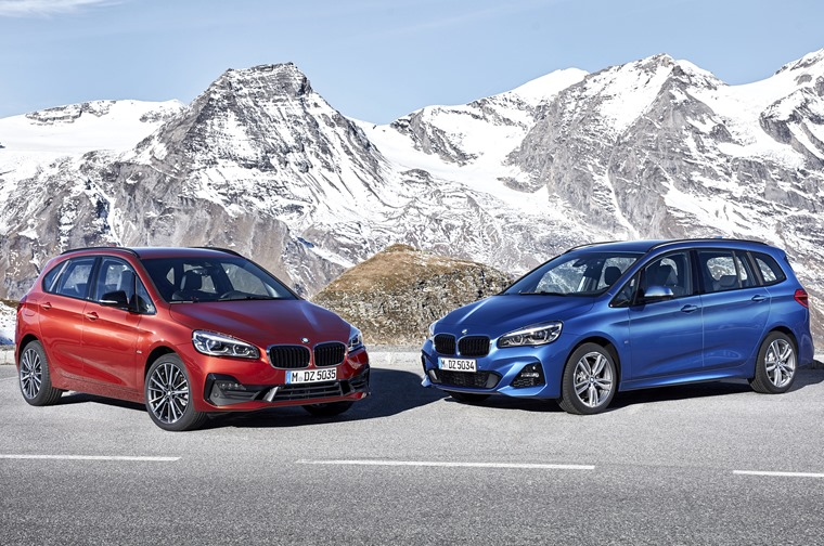 The five-seat Active Tourer (left) and seven-seat Gran Tourer (right) have been refreshed for 2018.