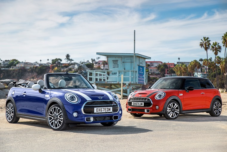 Changes apply to the three- and five-door hatch models, and the convertible.