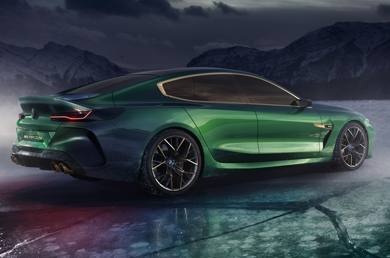 BMW M8 Gran Coupe concept side rear