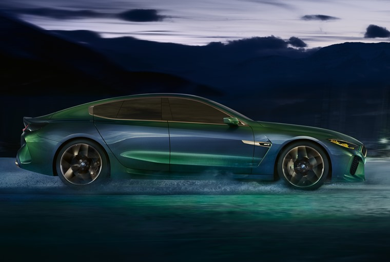 BMW M8 Gran Coupe concept side