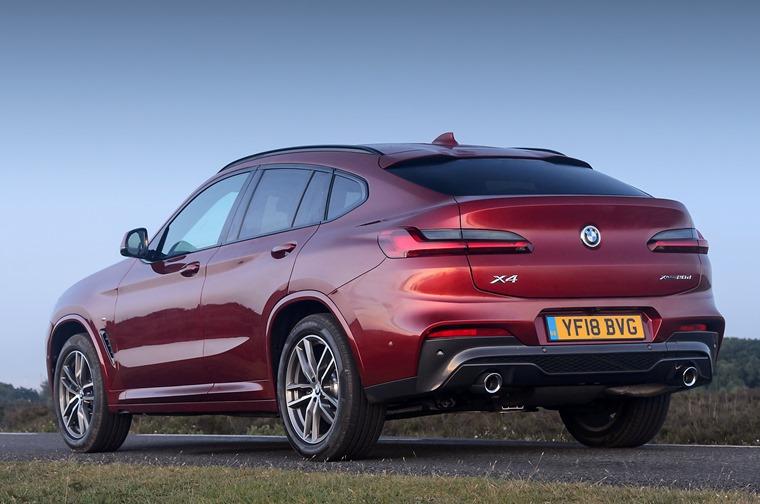 BMW X4 2018 rear