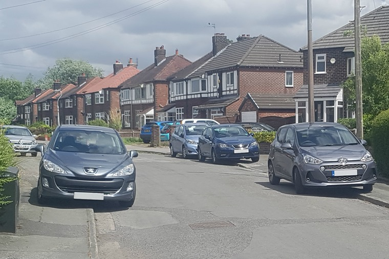 Pavement parking is a problem in residential areas