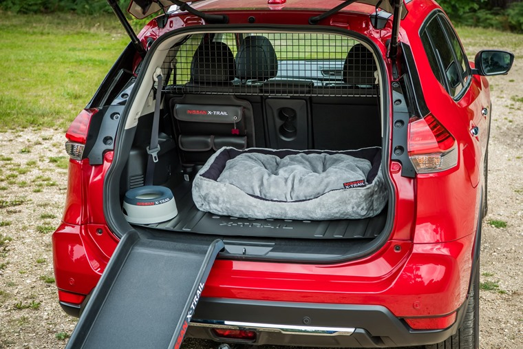 Nissan X-Trail featuring optional extra Paw Pack.