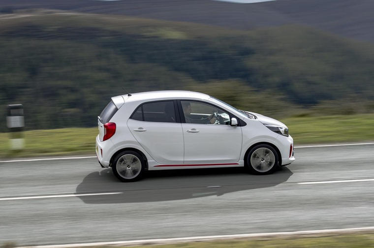 The new Picanto is a sharply styled car