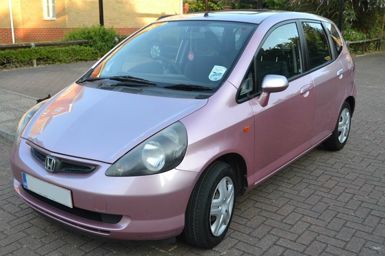 Pink Honda Jazz image source-  eBay