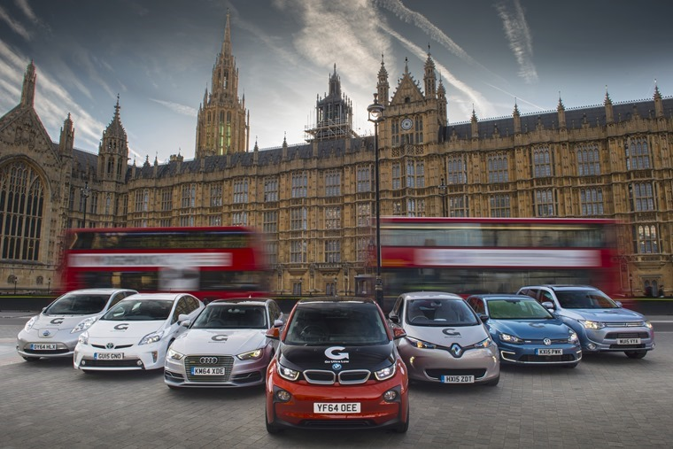 plug in cars at houses of parliament