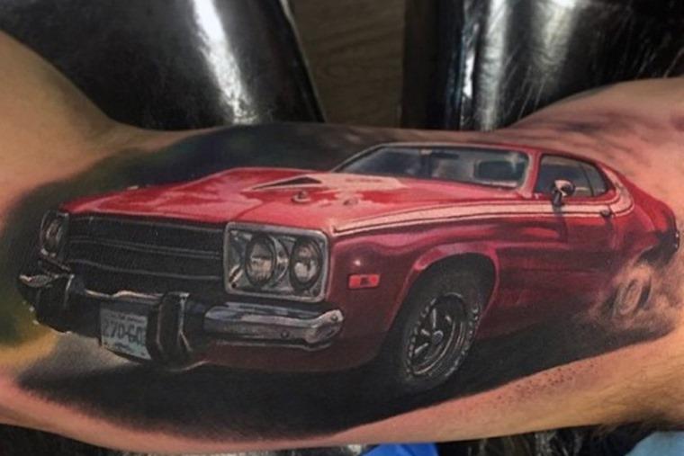 Pontiac Firebird classic car tattoo