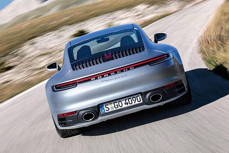 Porsche 911 992 on the road
