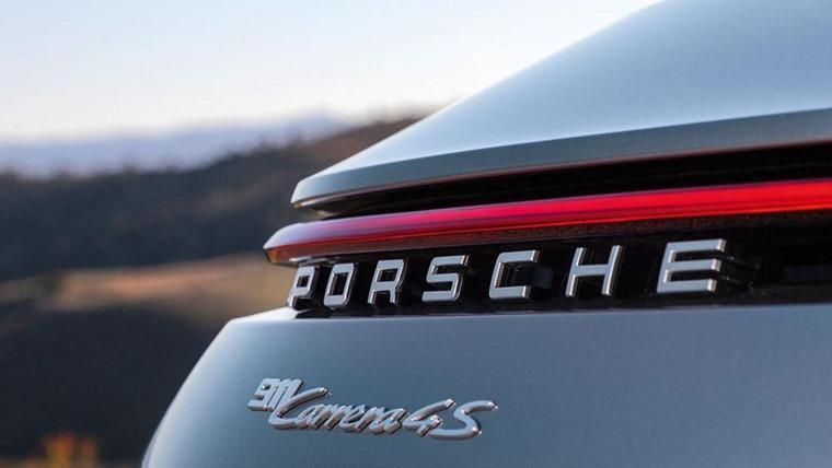 Porsche 911 992 rear lights detail