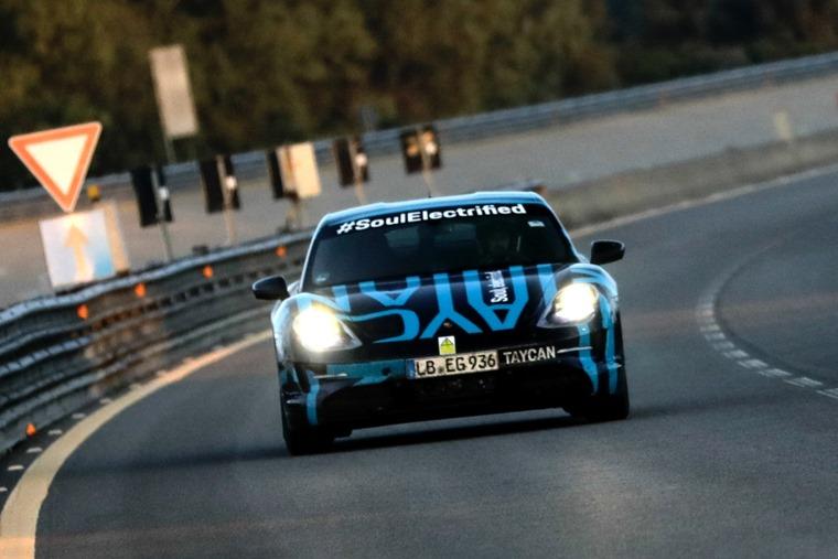 Porsche Taycan pre-production Nardo front