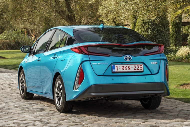 The Prius PHV still gets a quirky look, but it's a tone down from its conventional hybrid sibling.