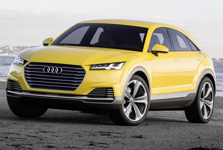 This is the Audi TT offroad concept, and it gives us an idea of what we can expect the upcoming Q4 to look like.