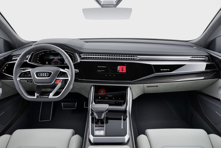 In the concept version at least, switches have been competely replaced with touchscreen tech.