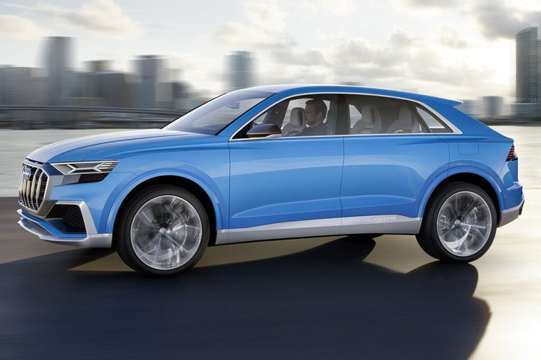 It's around the same size as the Q7, but gets a sloping rear end and a sharp new look at the front, too.
