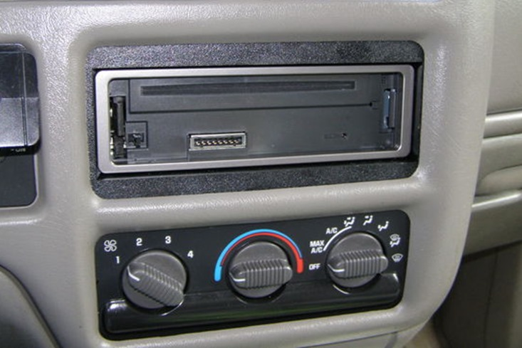 removable radio fascia