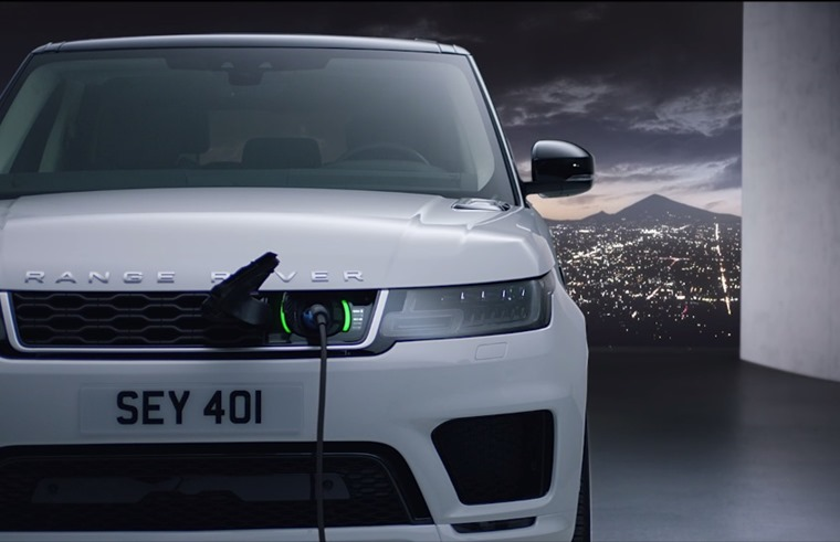 Range Rover Sport PHEV plugged in