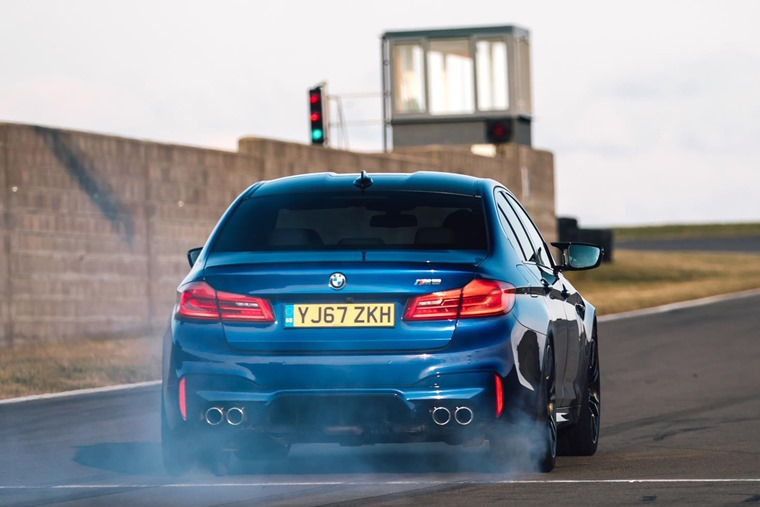 2018 BMW M5 on track