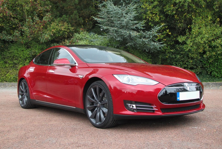The Tesla Model S rivals the Porsche Panamera and Aston Martin Rapide