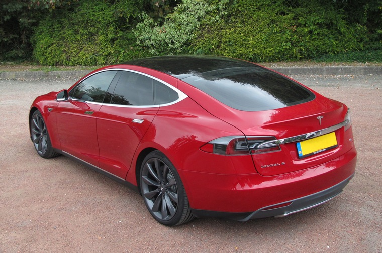 The top-spec Model S can race to 62mph in 4.2 seconds