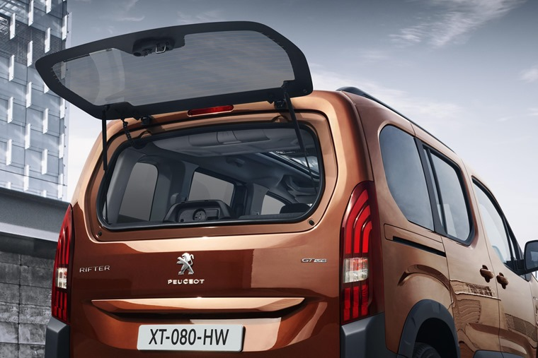 Peugeot Rifter tailgate window
