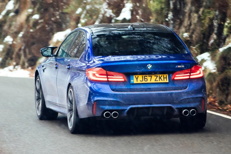 2018 BMW M5 rear on road