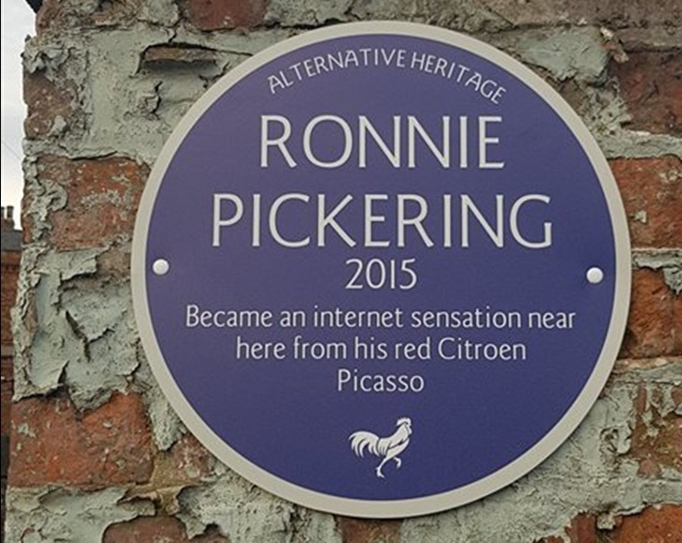Ronnie's well deserved plaque. Credit Facebook user Rob Allan