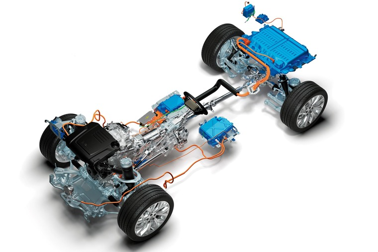 Range Rover hybrid technology.