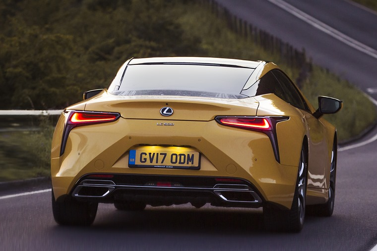 Lexus LC500 rear dynamic