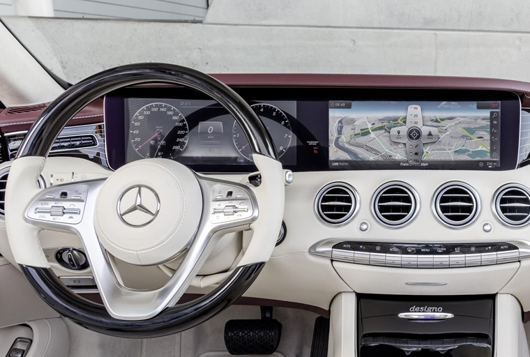 Gallery: The screens are vivid high-res monitors – similar to the set-up in the latest E-Class.