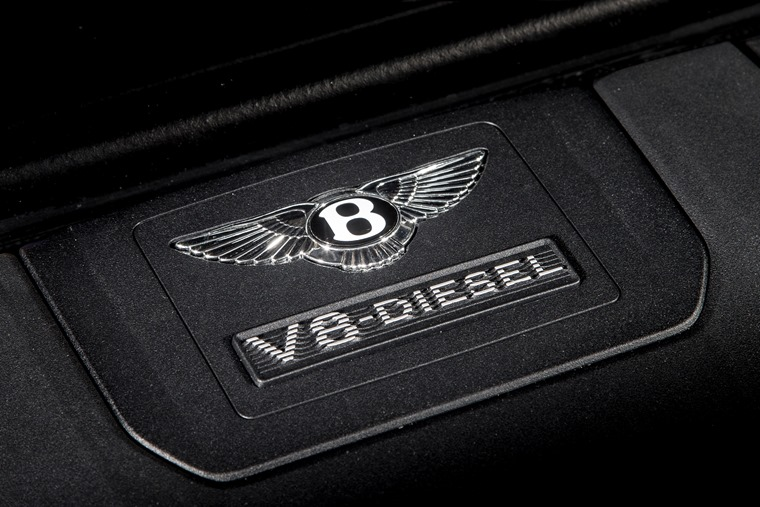 The excellent diesel engine suits the Bentayga to a tee.