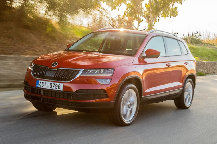 Skoda Karoq on the road