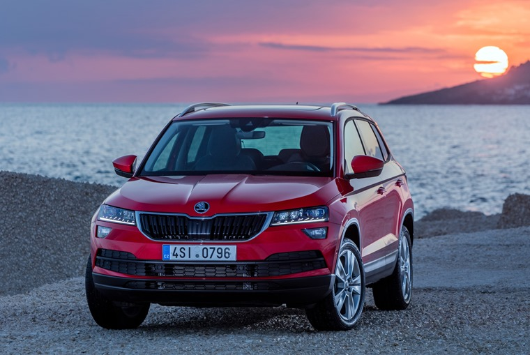 Skoda Karoq sunset