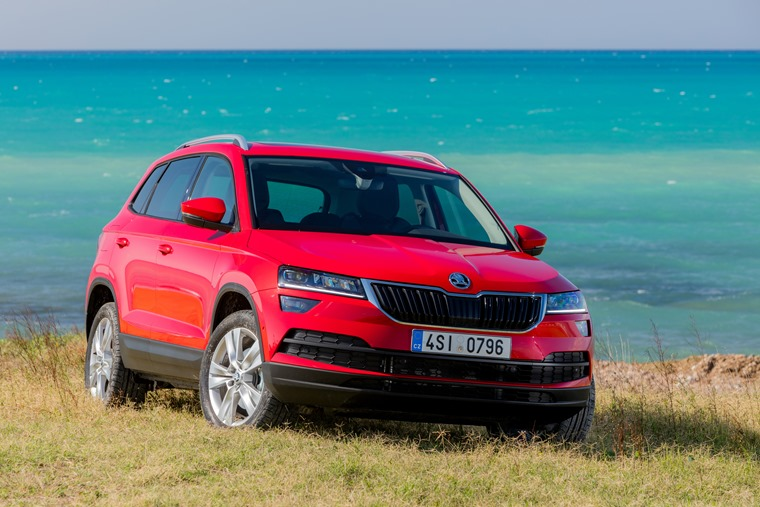 Skoda Karoq at the beach