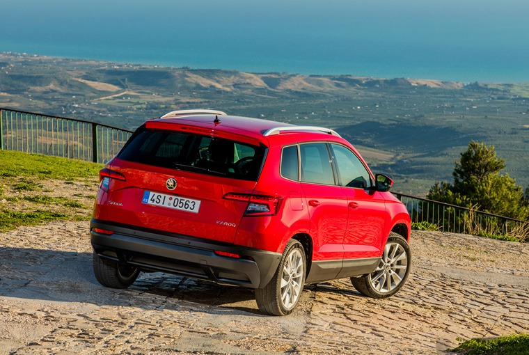 Skoda Karoq enjoying the views