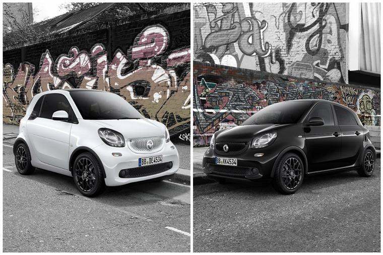 Smart Fortwo And Forfour White Black Edition
