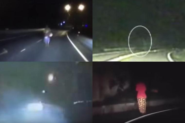 Spooky dashcam footage